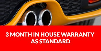 3 month In house warranty as standard